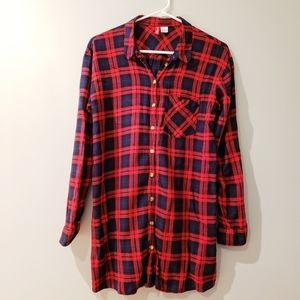 H&M Divided Plaid Button Down Shirt